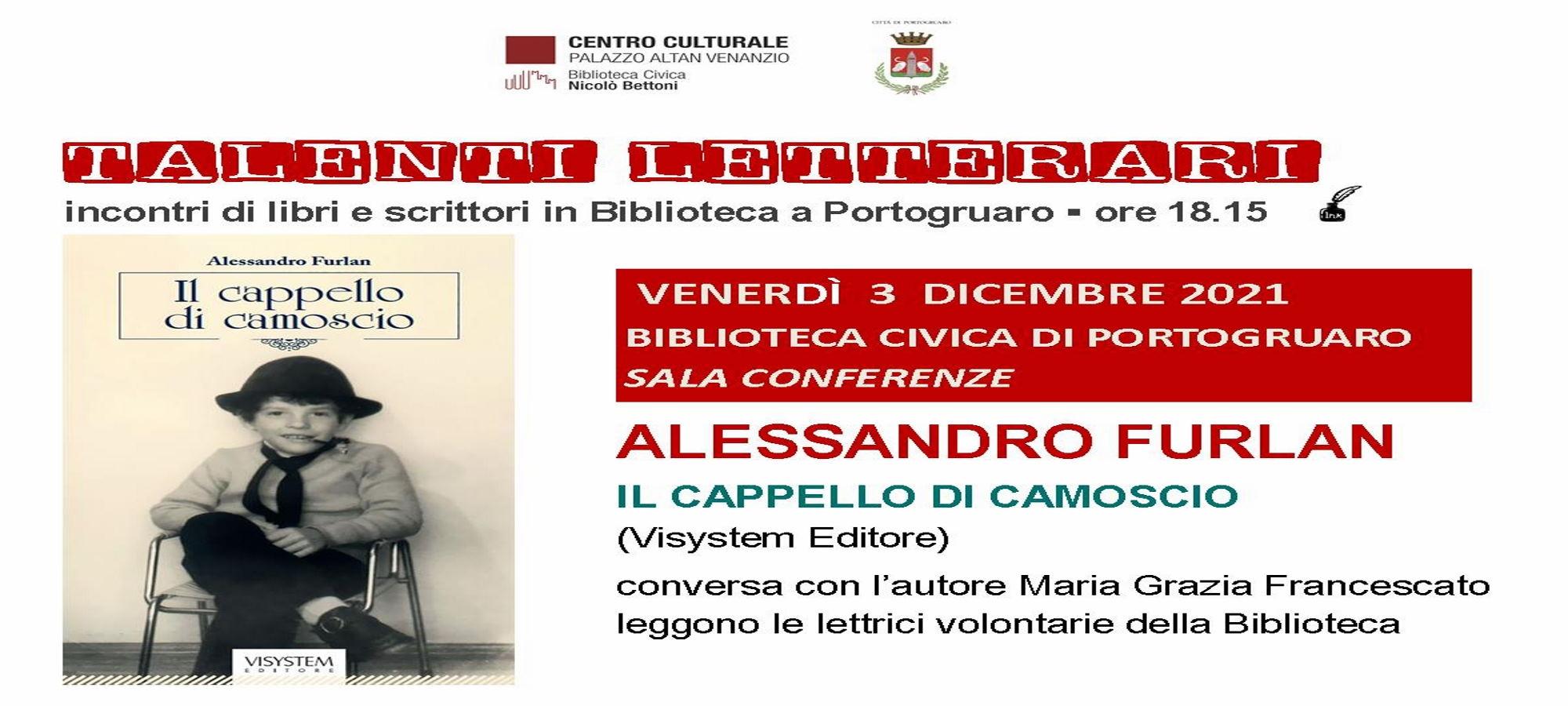"""Immagine """"Talenti Letterari"""". Alessandro Furlan"""