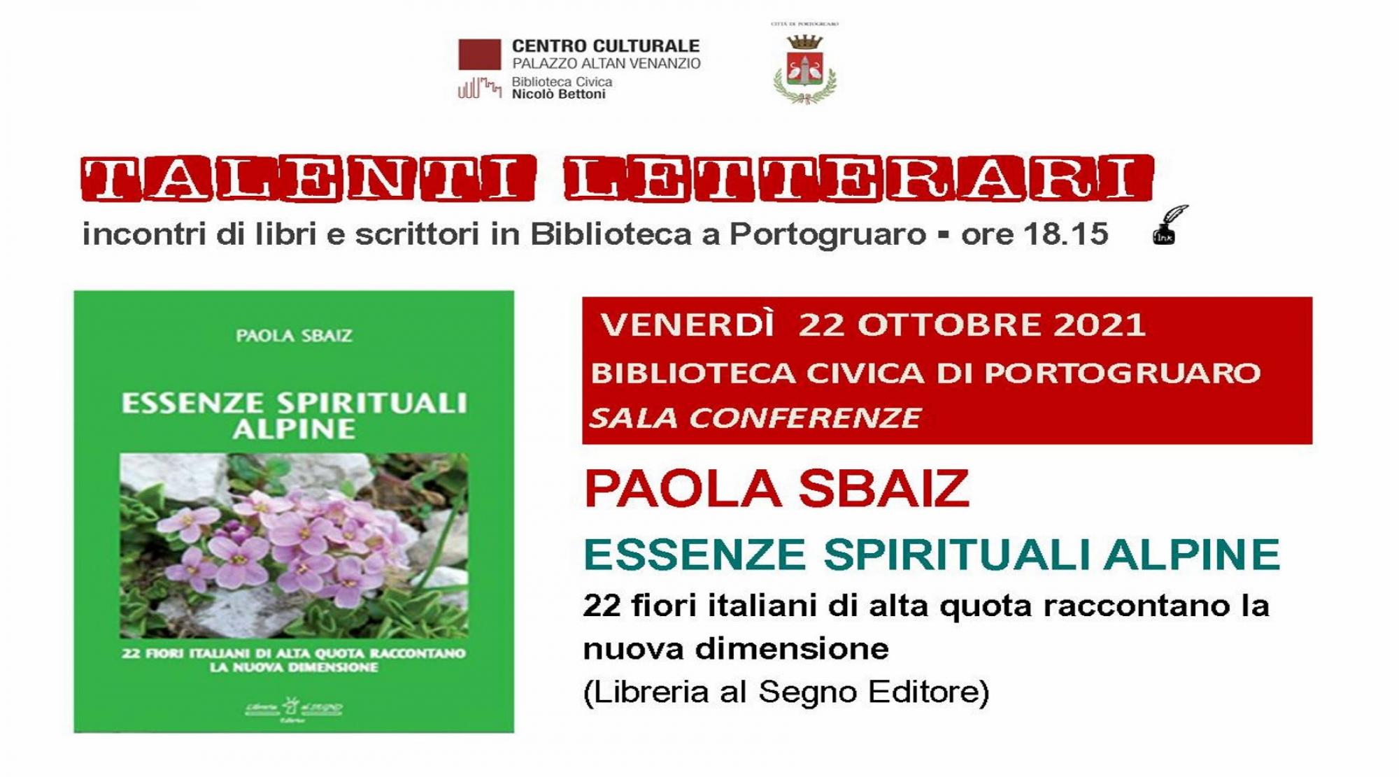 "Immagine ""Talenti Letterari"". Paola Sbaiz"